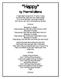 figurative language and meaning in a song by pharrell