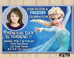 frozen invitation disney frozen elsa birthday custom printable