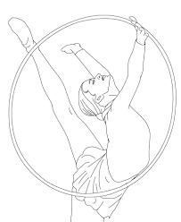 printable gymnastics coloring pages coloringstar