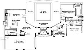 100 free house plans with courtyard central courtyard house