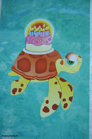 lovely sea turtle happy birthday card w cake on top of shell