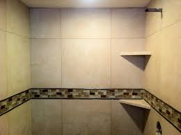Bath Wall Decor by Master Shower Room Design Feature Ecru Honed Marble Wall Tile And
