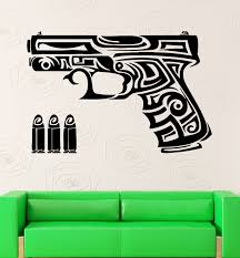 online get cheap tribal sticker aliexpress com alibaba group hwhd 2016 new arms wall stickers gun chucks bullets weapons tribal tattoo vinyl decal free shipping