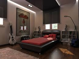 cool bedroom ideas red wall black comforter red drawers white soft