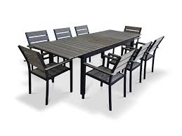 Rustic Outdoor Dining Furniture Amazon Com Urbanfurnishing Net 9 Piece Eco Wood Extendable