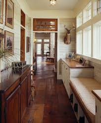 mismatched wood floors with wood panel wall kitchen modern and