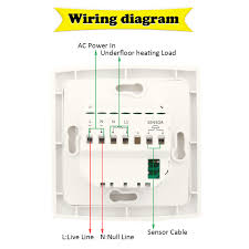 electric underfloor heating thermostat wiring diagram wiring