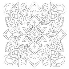 free easy mandala for beginners coloring book image from