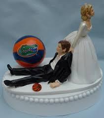 basketball cake topper of florida gators uf basketball themed wedding cake