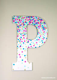 wooden letters home decor diy wall art confetti letter homemade ginger