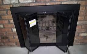 Ideas Fireplace Doors Stylish Gas Fireplace Replacement Doors Home Design Ideas