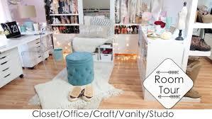 5 into 1 room tour diys closet office vanity craft studio