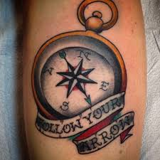 mr althen compass compass tattoo traditional sayings follow your