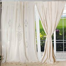 2017 customize tab top curtain linen lace french country cotton