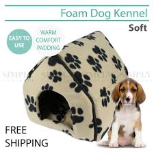 Dog Igloos Pet Dog House Kennel Soft Igloo Puppy Cat Zip Folding Bed Warm Cushion