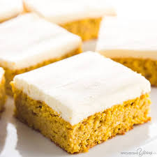 Pumpkin Bars With Crumb Topping Low Carb Healthy Pumpkin Bars With Cream Cheese Frosting