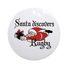 santa rugby ornament by culturegraphics