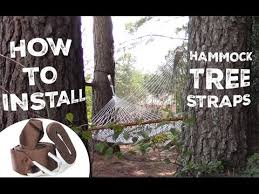 how to install and use your hammock tree straps youtube