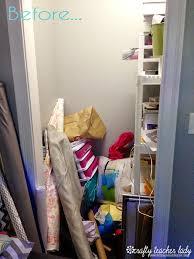 crafty teacher lady diy closet shelf makeover