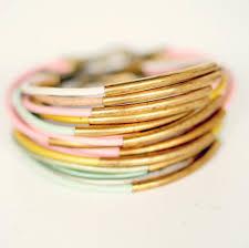 multi bracelet images Three leather pastel cord and multi tube bangle wrap bracelets jpg