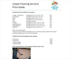 Area Rug Cleaning Prices 8 Cleaning Price List Templates Free Word Pdf Excel Format