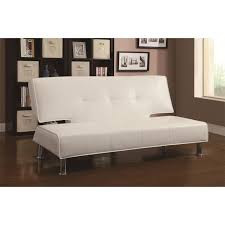 coaster furniture 300296 contemporary sofa bed in white