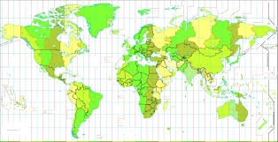 World Time Zone Map by