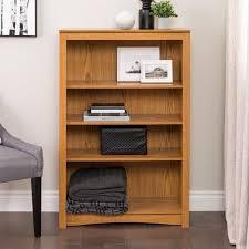 Bookcase Shop Shop Prepac Furniture Oak 4 Shelf Bookcase At Lowes Com
