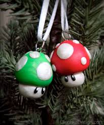 mario bros mushroom christmas ornament nintendo geek polymer