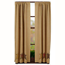rustic curtains ebay