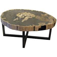 petrified wood end table furniture contemporary indonesian petrified petrified wood end table