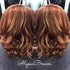honey brown haie carmel highlights short hair long bob short hair red hair caramel blonde highlights auburn