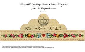 printable birthday crown printable invitations