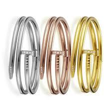 stainless steel crystal bangle bracelet images Bracelets boho cable crystal gold pave chain link pearls and rocks jpg
