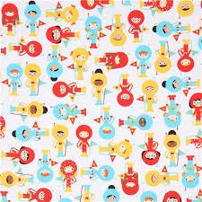 white robert kaufman fabric children astronaut yellow space