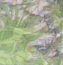 Swiss Alps Map Hiking Map 1 Sappada San Stefano Forni Avoltri Carnic Alps