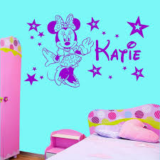 personalised minnie mouse stars girls bedroom wall art sticker personalised minnie mouse stars girls bedroom wall art sticker decal any name in wall stickers from home garden on aliexpress com alibaba group