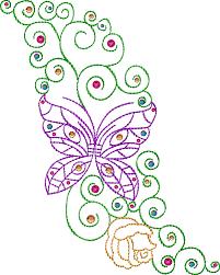 butterfly swirls 5 7 inch 130x180mm reddin designs