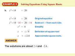 example 4 using a square root equation amusement parks ppt download