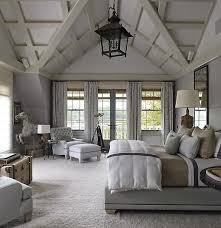 rustic farmhouse bedroom in grey layered mineral tones rustic