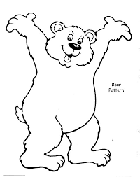 brown bear happy coloring pages place color