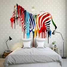 modern minimalism 3d effect wallpaper nordic simple fashion colorful abstract hand painting zebra wall mural