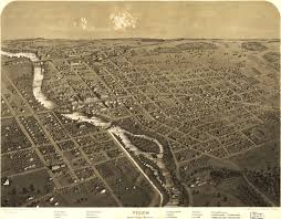Atlanta Street Map Birdseye View Of Niles Michigan 1868