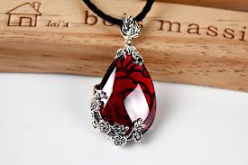 red gem necklace images 925 silver pendant women to restore ancient ways mosaic garnet jpg