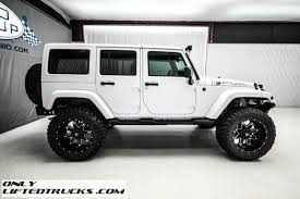 white jeep rubicon 2015 jeep wrangler unlimited sahara lifted