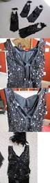 Curtain Call Dance Costumes by 152355 Curtain Call Costume Lot 4 Black Sequin Fringe