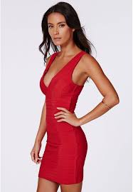 missguided leena bandage bodycon dress in red where to buy u0026 how