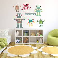 Bedroom Wall Stickers Uk Robot Wall Stickers Uk
