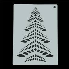Decorative Pine Trees Aliexpress Com Buy Christmas Cake Decorative Pine Trees Stencil