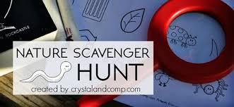 nature scavenger hunt printable